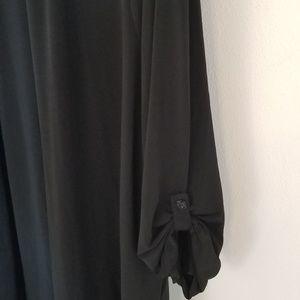 Susan Graver Tops - Susan Graver size 3x black open cover shirt.